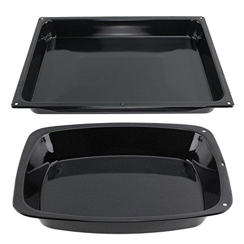 spares2go groß gläserne Emaille Backbleche Ofen Bräter