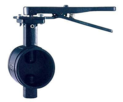 """Shurjoint SJ300NL3Epw-G Ductile Iron Butterfly Valve with Lever Handle, 3"""" by Shurjoint"""