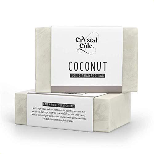 Crystal Cole Sollide Barre de Shampooing/Conditionneur Barre (Après-shampooing) - Vegan - 100% écologique/zéro en plastique (Noix de coco, Conditionneur Barre)