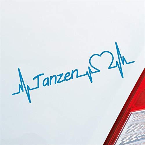 Hellweg Druckerei Tanzen Herzschlag Tanzsport Partner Musik Sport Liebe Auto Aufkleber Sticker Heckscheibenaufkleber