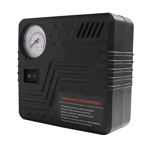 Bomba Mini eléctrico DC 12V Compresor de aire para automóvil 120 PSI Compresor de aire Inflador de neumáticos Bomba inflable para automóviles Motocicletas Bicicletas - Negro