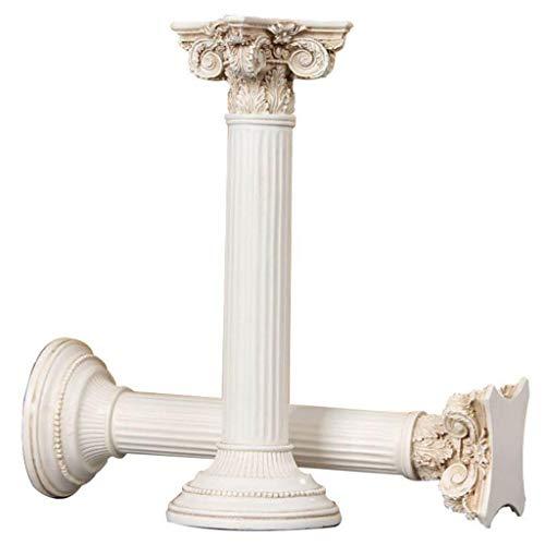 WJF Esculturas Decorativos Columna Romana Retro Europea Accesorios para El Hogar Decoración De La Ventana De Visualización Accesorios De Tiro Adornos