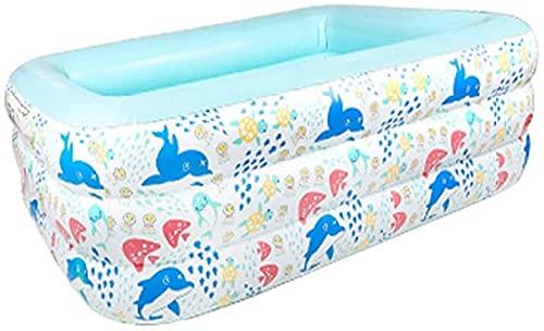 LSWY Piscina inflable, Familia Hesung Piscina para niños, niños pequeños, bebés, adultos, huelga inflable de tamaño completo Piscina para niños para edades 3+, al aire libre, jardín, patio trasero, ce