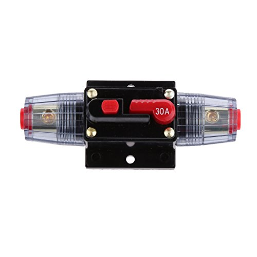 Generic 12V-24V Inline Auto eistungsschalte Manuellen Reset Schalter Car Audio Sicherung - 30a