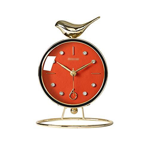 CJshop Reloj de Mesa Decorativo El Reloj de Escritorio Lindo con la Base de Metal, el Reloj de Mesa Creativo del Escritorio del hogar/Reloj de Manto, se Puede Utilizar fami