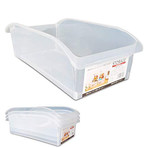 KEPEAK 4pcs Contenedor de Refrigerador, Caja de Almacenamiento de Plástico Multifuncional, Organizador de Alimentos/Verduras/Frutas para Frigorífico, Fondo Antideslizante