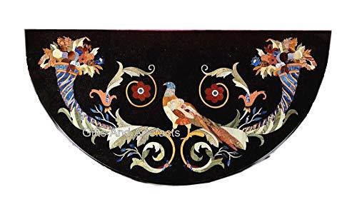 Gifts And Artefacts Indian Heritage Crafts Works Exklusiver Konsolentisch, Schwarz, Terrasse, Couchtisch, Größe 91,4 x 45,7 cm