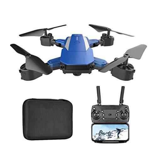 Solustre F84 300000 Píxeles Fotografía Drone Quadcopter Plegable Mini Drone con Cámara RC Quadcopter con Bolsa de Almacenamiento Regalo de Cumpleaños para Amigos (Azul)