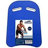 Roveinsia Kickboards Swimming, Swim Training Aid Kick Board for Adults and Kids, U Design Pool Floats with Integrated Hole Handle, EVA Foam, Blue