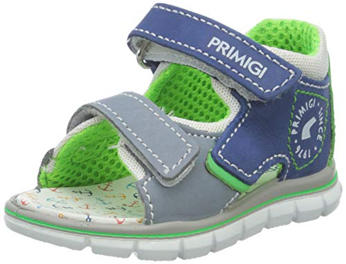 Primigi Sandalo Primi Passi Bambino, Bimbo 0-24, Blu (Bluette/Blu/B.Co 5367400), 22 EU