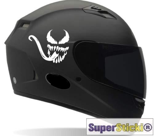 Predator Venom Helmaufkleber ca 10 cm Tuning Racing Rennsport Renndecal Aufkleber Sticker Decal aus Hochleistungsfolie Aufkleber Autoaufkleber Tuningaufkleber Racingaufkleber Rennaufkleber von SUPE
