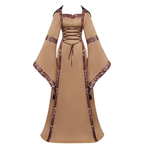 Great Price! jin&Co Hooded Maxi Dresses for Women Flared Sleeve Medieval Gothic Halloween Costume ...