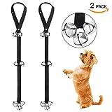 FOLKSMATE Dog Doorbells for Potty Training 2 Pack Potty Bells with 7 Extra Loud Bells Adju...