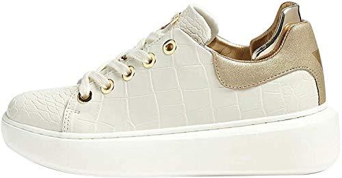 Guess Scarpe Donna Sneaker Braylin in Pelle Colore Bianco DS20GU01