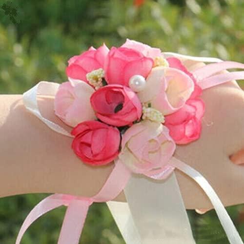 jianchangsheng Damen-Armband mit Blumendesign, für Brautjungfern, Schwestern, für Hochzeit, Party,...