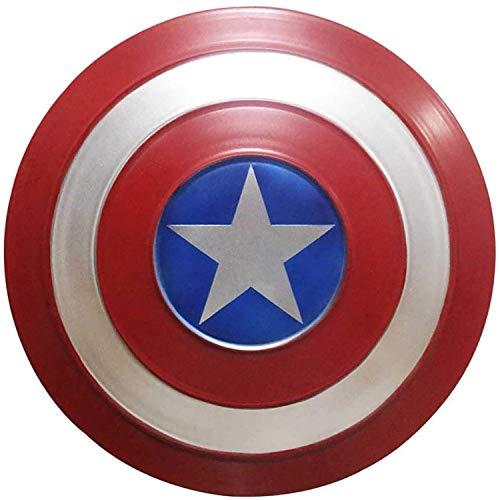 Escudo Capitan America Metal 1: 1 Adulto Apoyos de Película Niños Hierro Forjado CapitáN AméRica Shield Vengadores Capitán América Disfraz de Metal Shield A,47CM