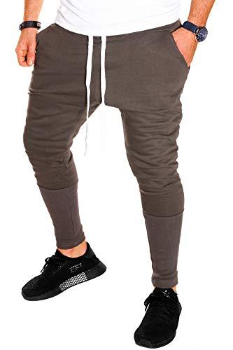 Jaylvis Herren Hose Jogginghose Sporthose Baggy Harem lang Trainingshose Fitnesshose Sweatpants Sport Fitness (Khaki (16006), XL)