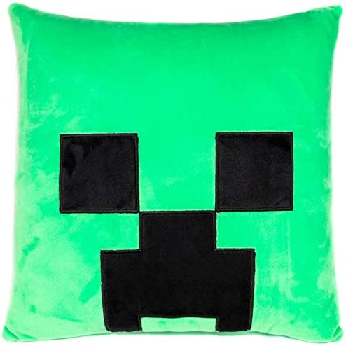 Jay Franco Minecraft Creeper Decorative Nogginz Face Pillow Super Soft Measures 12 Inches Official product image