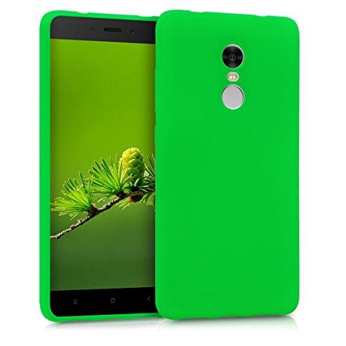 kwmobile Funda Compatible con Xiaomi Redmi Note 4 / Note 4X - Funda Carcasa de TPU Silicona - Protector Trasero en Verde neón