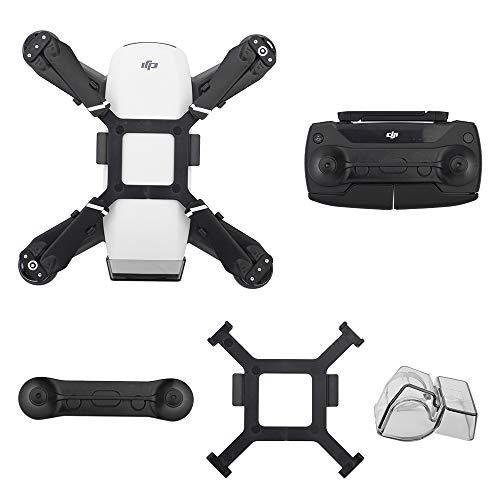 HeiyRC 3packs Protective Accessories for DJI Spark Drone,Gimbal Holder Camera Lens Cover Cap,Propeller Mount Bracket Holder,Joystick Guard Protector