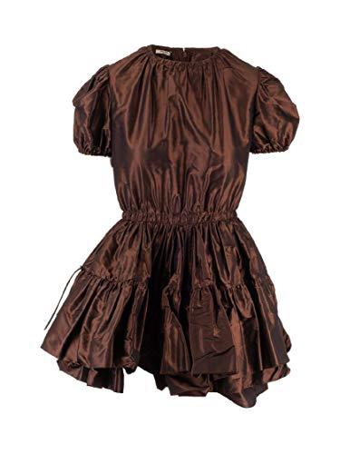 Miu Miu Luxury Fashion Damen MF3484658F0005 Bronze Seide Kleid   Herbst Winter 19