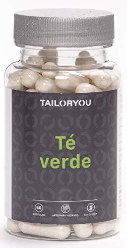TAILORYOU Té verde - 150 mg Greenselect Phytosome - 60 Cápsulas Complemento Alimenticio Vegano con Propiedades Anti-envejecimiento. Sin Cafeína. Envase para 2 Meses.