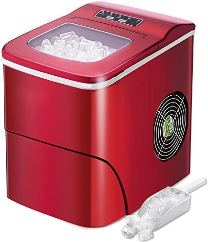 AGLUCKY Ice Maker Machine for Countertop Portable Ice Cube Makers Make 26 lbs ice in 24 hrs product image
