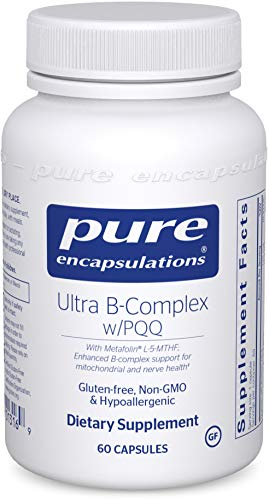 Pure Encapsulations - Ultra B-Complex w/PQQ - Hypoallergenic Supplement with Enhanced Vitamin B-Complex for Mitochondrial and Nerve Health - 60 Capsules