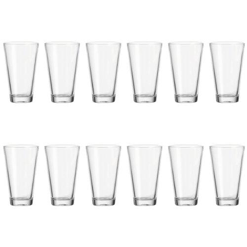 LEONARDO HOME Trinkglas Ciao 12-er Set, 300 ml, Wasserglas, Saftglas, Longdrinkglas, Becher, Klarglas, 017207