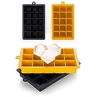 blumtal 2 stampi per cubetti ghiaccio in silicone, vaschette per ghiaccio, stampo ghiaccio, cocktail (dimensione cubetto - l)