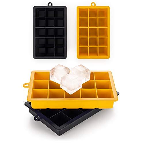 Blumtal Eiswürfelform Silikon XL Würfel - 2x15er Pack, BPA frei, Leichtes Herauslösen der Eiswürfel, Silikon Form