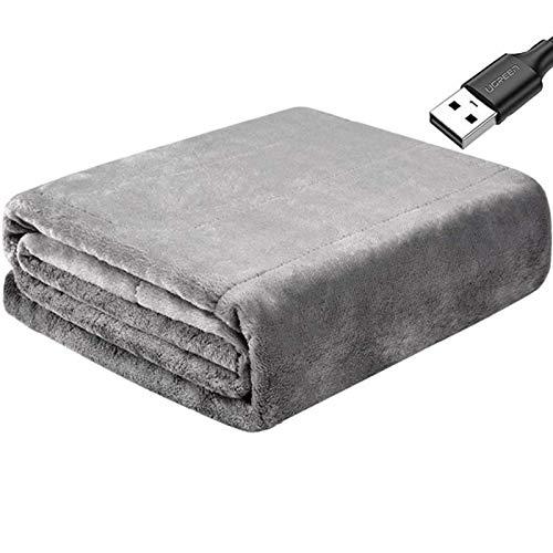 BBGSFDC Elektrische Heizdecke for Frauen USB Heizung Schal Carbon-Faser-Heizung-Schal-Kissen-Auflage for Schulter- und Nacken- warm halten und Entlasten PainBean Paste (Color : Gray)