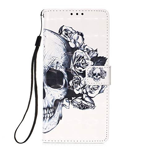WANYINGLIN Girl Card Slot Holder Compatible with Samsung A51,Slim Ultra Thin Leather Leder Hülle Stand Function Magnetic Flip Kickstand Colorful Wallet Musterg 3D Rose Cartoon