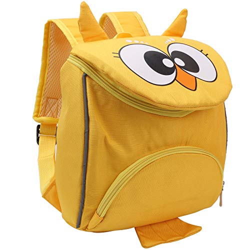 Asixxsix Mochila portabebés, Mochila Fresca para niños pequeños, Tela Oxford Diseño Elegante Resistente para Viajes Escolares Compras para bebés de 3 a 6 años(Owl Yellow)