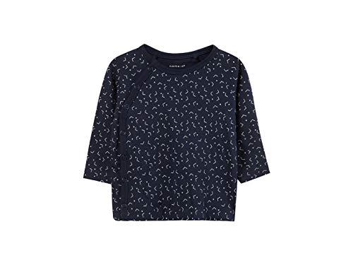 Name It Nbndelucious Ls Wrap Top Noos T-Shirt, Bleu (Dark Sapphire), 56 Mixte bébé
