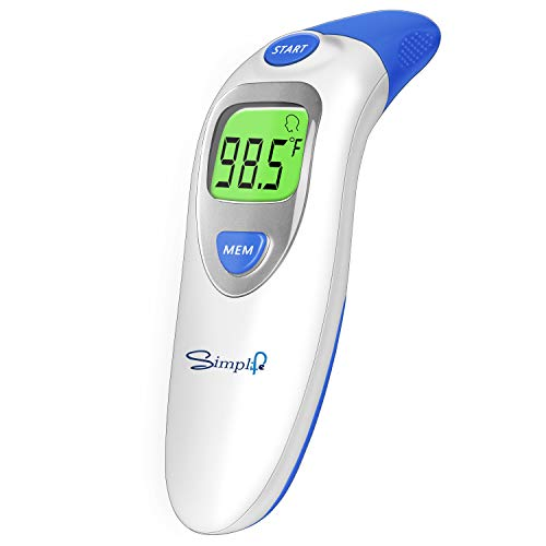 Baby Forehead Thermometer with Ear Function, Digital Medical Infrared Body Temporal Basal...