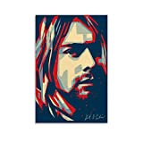 RTYHJ Kurt Cobain Leinwand-Kunst-Poster und Wandkunstdruck,