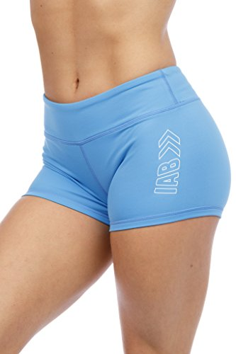 3' Inseam Compression Shorts for Yoga, Running, Volleyball, and Crossfit Athletes (X-Small, Sky Blue)