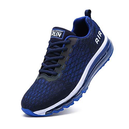 TORISKY Sneaker Herren Damen Sportschuhe Air Cushion Schuhe Laufschuhe Luftkissen Turnschuhe Fitness Gym Leichtes Bequem(8998-BL44)