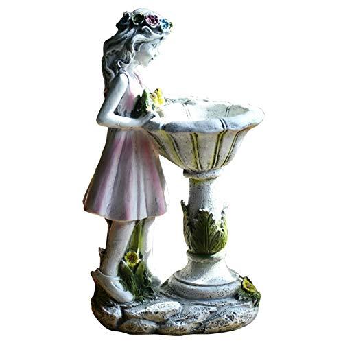 LBYLYH Fleur fée décoration Solaire résine Ange caractère Sculpture extérieure Cour Jardin décoration Maison Jardin Ornements