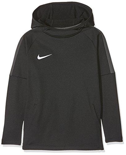 Nike Jungen Dry Academy18 Football Hoodie Pullover,Schwarz (Black/Anthracite/Anthracite/White), M