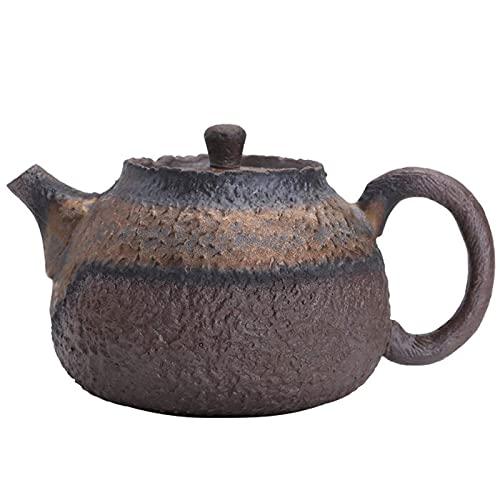 Tetera de gres Vintage, Juego de té de Piedra de imitación, Tetera de cerámica Hecha a Mano, Suministros para la Ceremonia del té Chino, Tetera de 210 ml