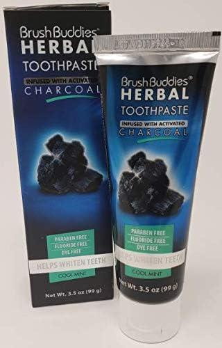 Brush Buddies Award-winning San Diego Mall store Herbal Toothpaste Mint Cool 99gr 3.5