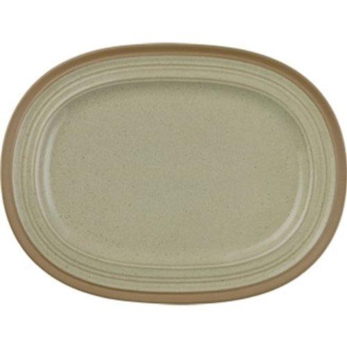 Churchill Art de cuisine Cd140 Ignée en grès ovale plate (lot de 6)