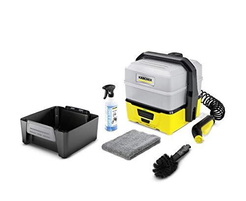 Kärcher Mobile Outdoor Cleaner OC 3 Plus Bike Box (Wassertankvolumen: 7 l, Lithium-Ionen-Akku, abnehmbarer Wassertank, schonender Niederdruck, Universalbürste, Fahrradreiniger, Mikrofasertuch)