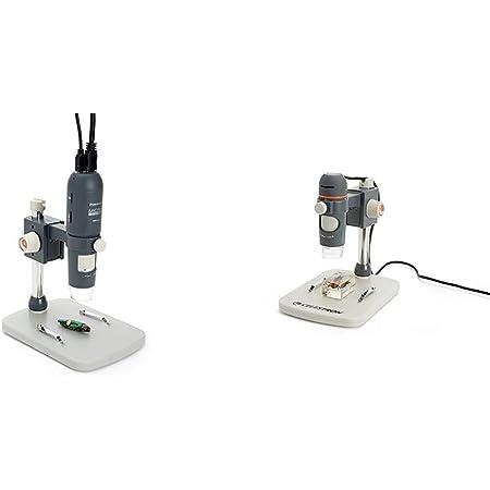Celestron MicroDirect 1080p HD Handheld Digital Micro Viewing Digital Microscope, Grey (44316) & - 5 MP Digital Microscope Pro - Handheld USB Microscope - 20x-200x Magnification