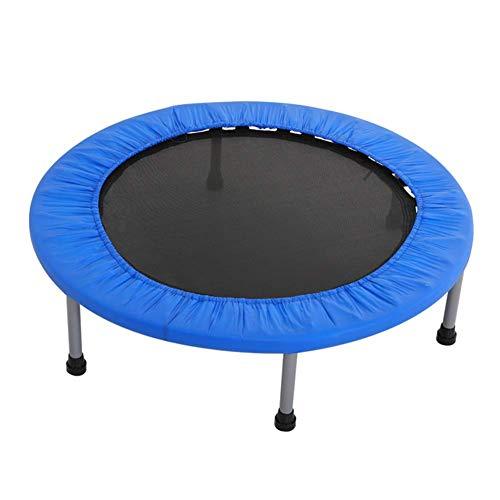 WZB Mini Trampolin Stoff atmungsaktiv langlebig für Kinder geeignet, 3 Größe (Farbe: blau, Größe: 120 cm)