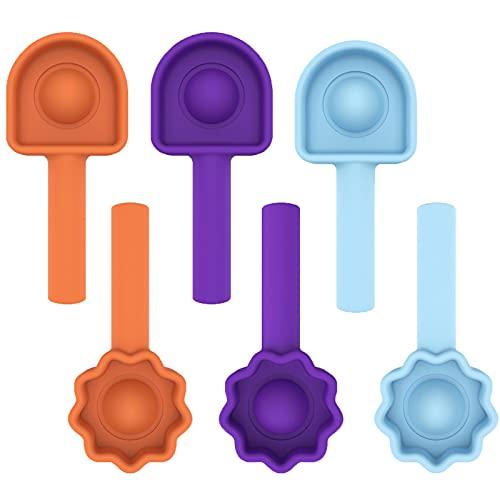 KFGJ Estuche de Silicona para lápices, Juguete Antiestres Pop-it Fidget Sensory Toys, Juguete Antiestres, Pop It Fidget Juguete sensorial, Alivia ansiedad, Push Pop Bubble Sensory A2