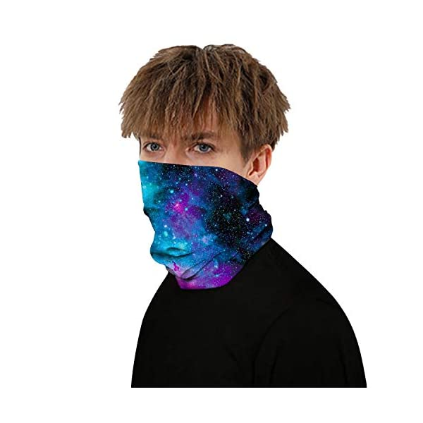 erwubala Multifunctional Face Mask, Neck Gaiter,Face Scarf,Seamless Neck Cover,Breathable Face Cover Bandana for Dust
