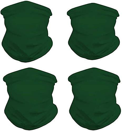 Yowablo Gesichtsschal 4PC Turbanhals im Freien Winddichter Sonnenschutz Staub Sport Sicherheit (4 STÜCK,N)